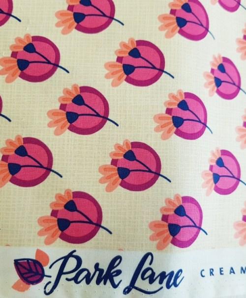HHL Webware Popeline Park Lane CREAMTEA Blumen creme/pink