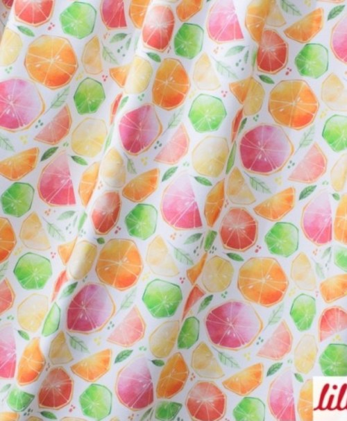 Lillestoff Jersey Citrus Watercolor