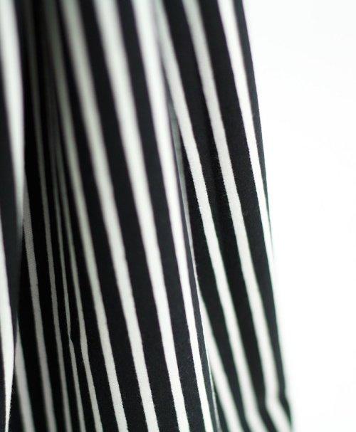 Stoffonkel Biojersey Streifen – schwarz-weiß
