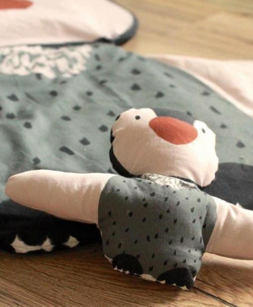 Lillestoff Webware Poplin Kissen Pinguin