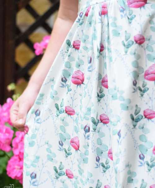 Jersey BLOOMING DREAM OPEN ROSE by Stoffkids