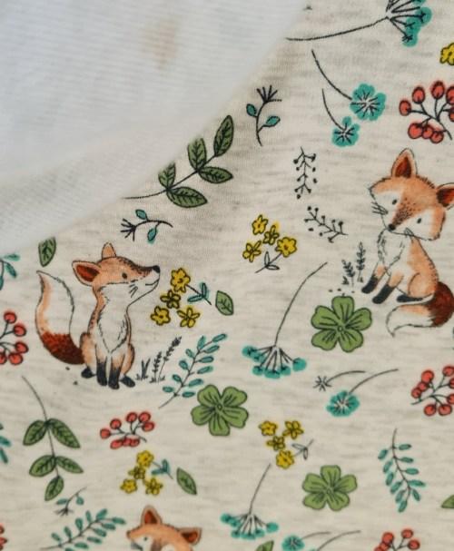 Alpenfleece kleiner Fuchs, ecru-melange