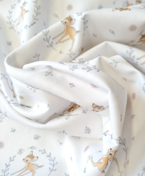 Baumwoll-Webware Bambi, weiß