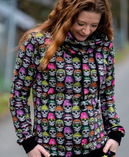 French Terry Premium Collection – Neon Skulls