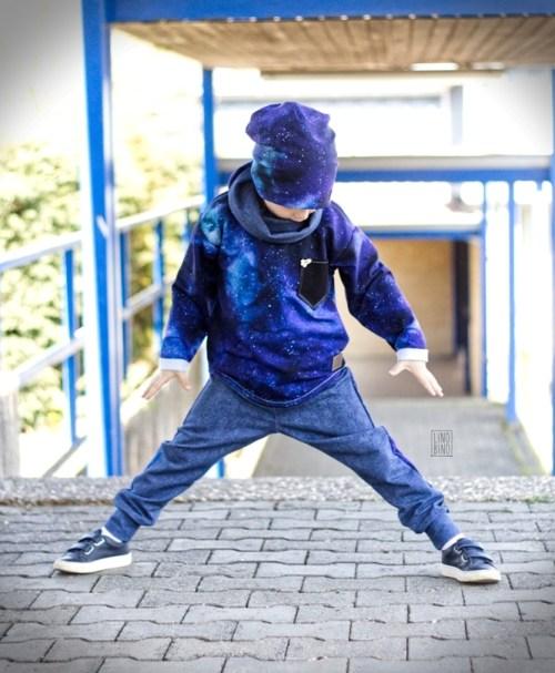 VORBESTELLUNG BIO-French-Terry NIPNAPS Galaxy blue