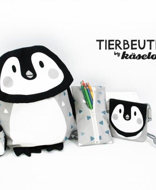 Canvas Tierbeutel Panel by Käselotti, Pinguin
