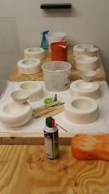 "Casting ""wabi sabi"" bowls for Katie"