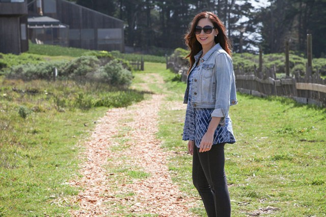 Amy West exploring the grounds of Sea Ranch Lodge