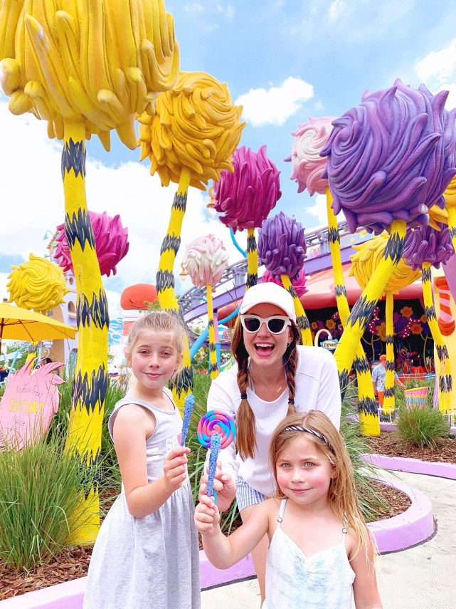 Florida Travel Blogger Amy West at Universal Islands of Adventure with her daughters