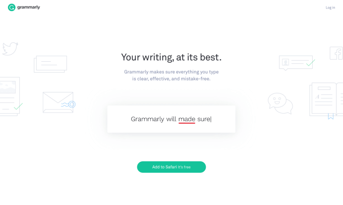 Grammarly Writing App Screenshot