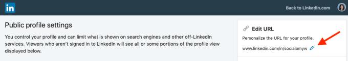 Customize LinkedIn public profile URL step 4.