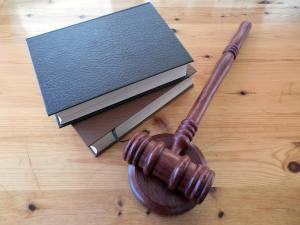 Gavel and books to represent a verdict.
