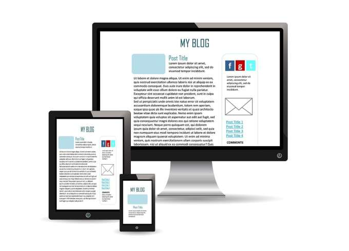 Multiple devices showing a mobile-friendly website.