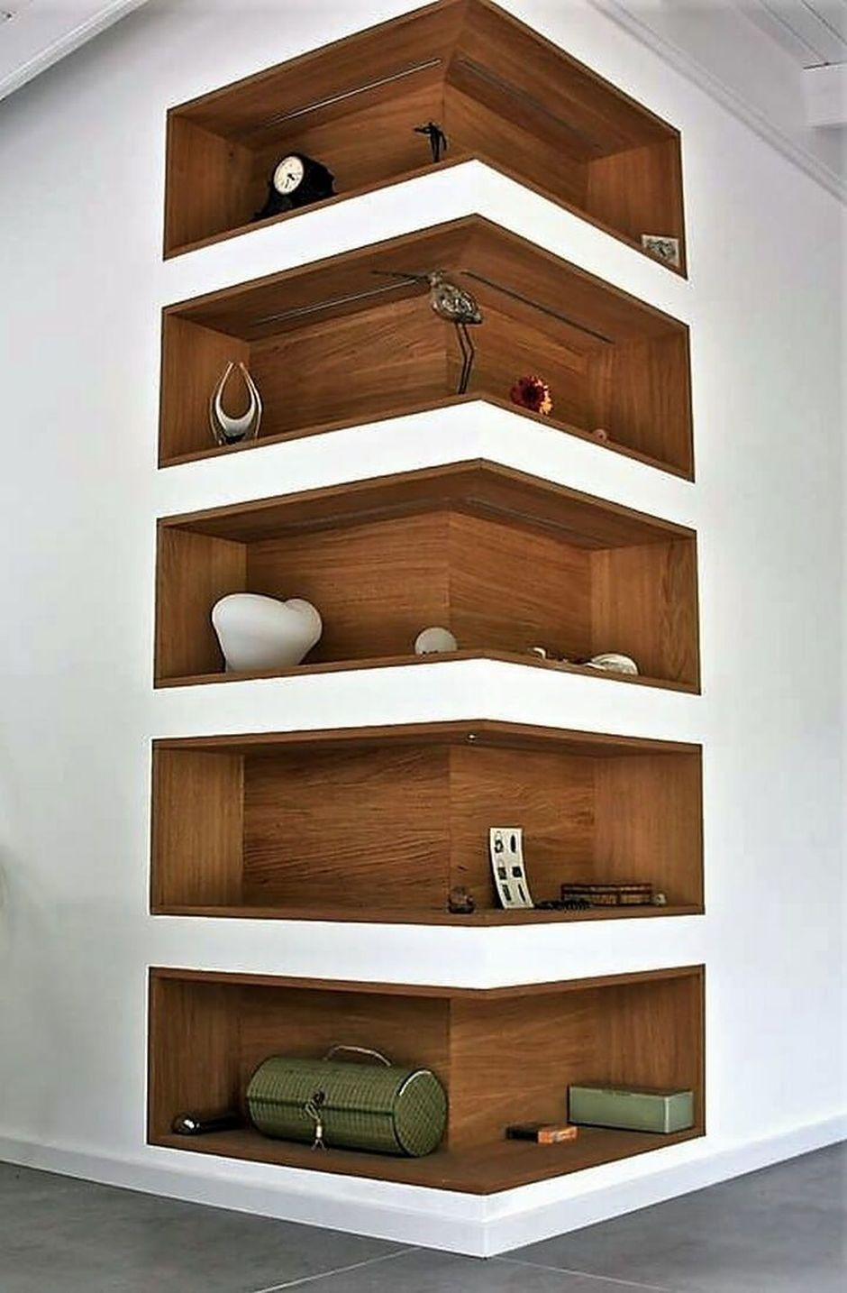 how to decorate living room wall shelves redo 50 attractive corner design ideas for 17
