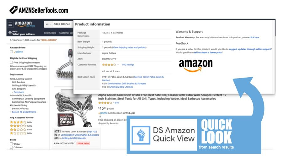 DS Amazon Quick View Extension