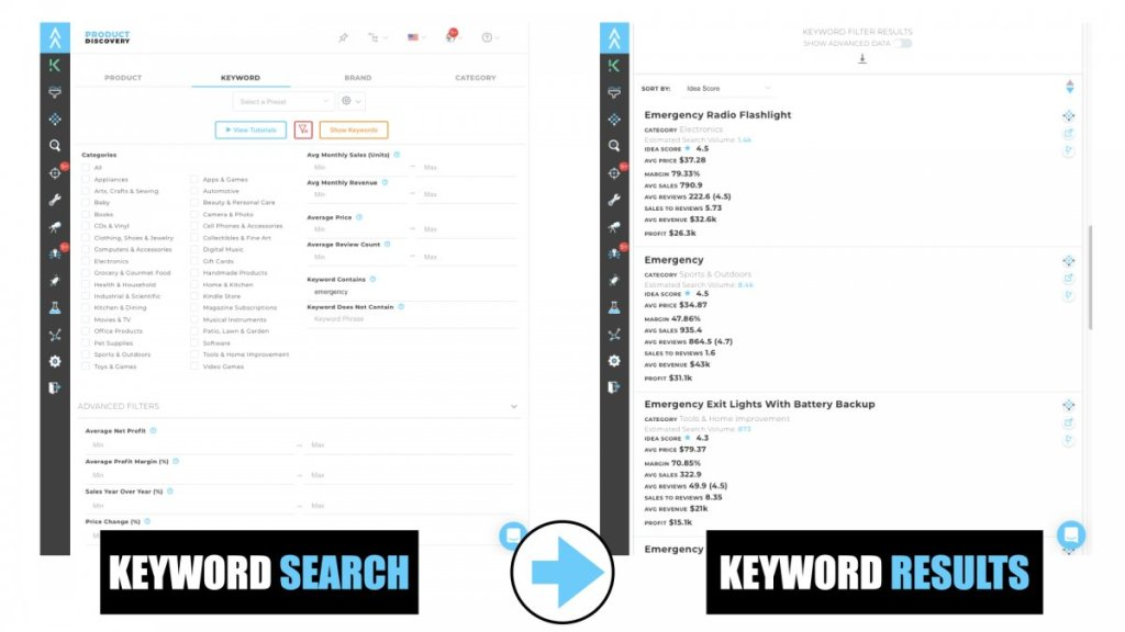 Viral Launch - Product Discovery Keyword Search