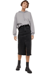 Denim Pencil Skirt (Cruelty-Free Valentine's Day)