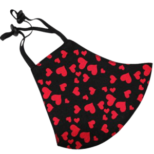 Red Hearts Face Mask (Cruelty-Free Valentine's Day)