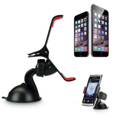 Black Universal Car Windshield Mount Mobile Phone Stand Holder