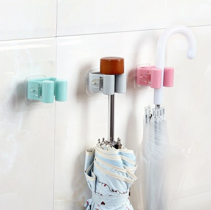 Mop Rack Umbrella Brush Broom Hanging Holder Storage