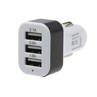 Car Universal Travel 3 Port USB Adapter Mobile Phone GPS Charger
