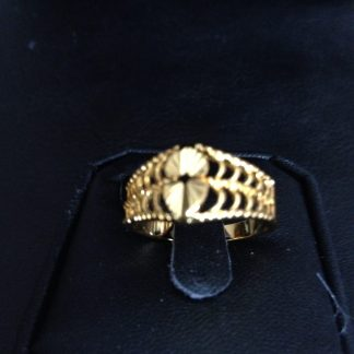 10K Gold Filled Over Alloy Women Ring Fashion Jewelry