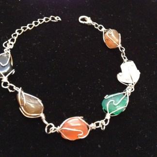 Multi Color Natural Stone Women Bracelet Fashion Jewelry