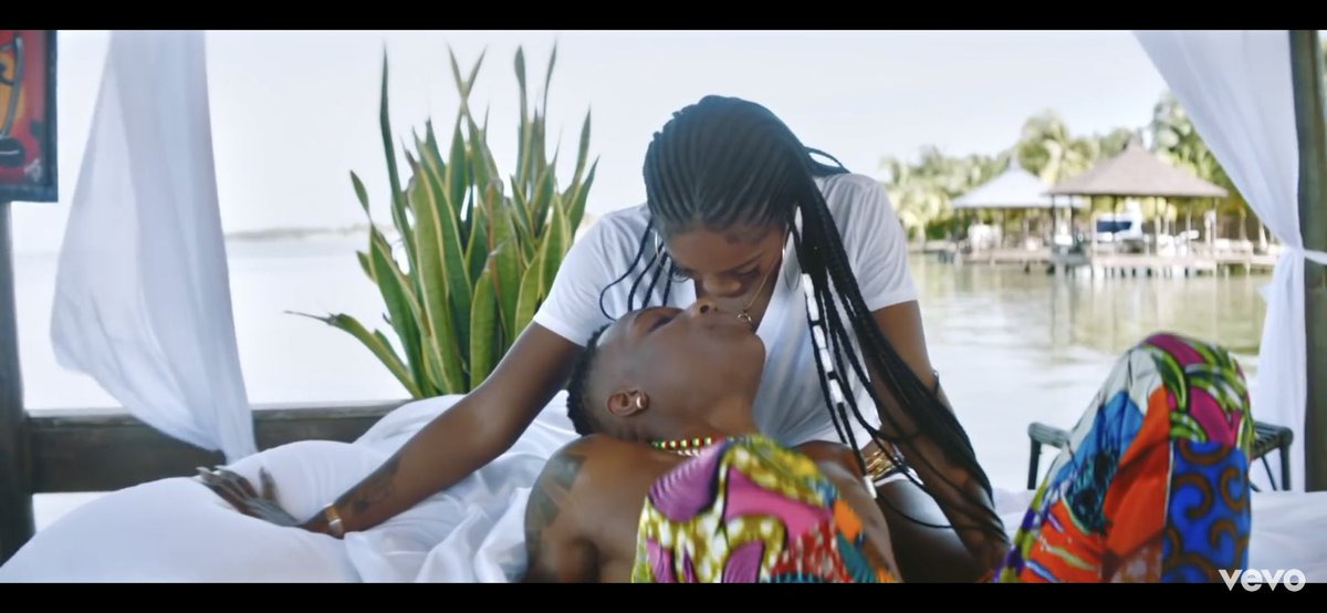 """Watch: Wizkid And Tiwa Savage Get Romantic In """"Fever"""" Video"""