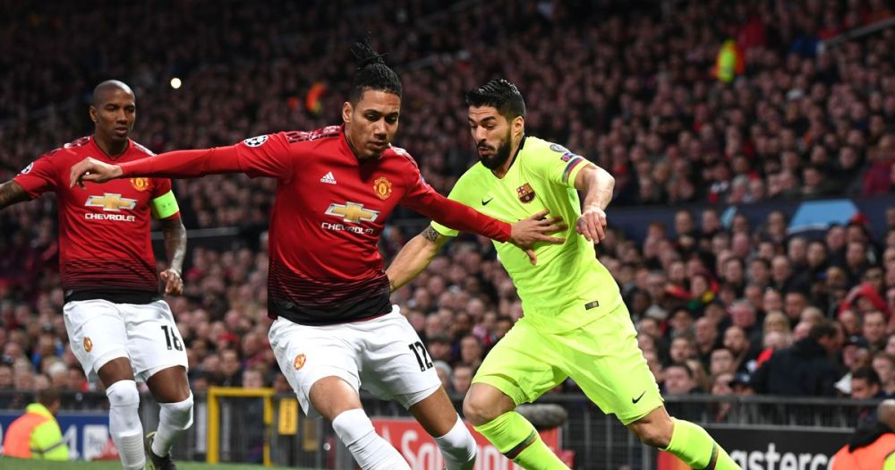 Luke Shaw saw Barcelona pick a vital 1-0 win against Manchester United in the first leg of their Champions League quarter-final at Old Trafford on Wednesday night.