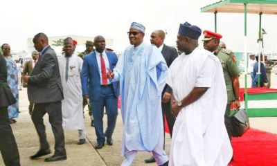 President Muhammadu Buhari has arrived in Lagos on a one-day working visit to the state after which he would head to Maiduguri and Borno Tomorrow.