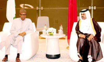 Africa News24 earlier reported that the Emir of Qatar Sheikh Tamim Bin Hamad Al-Thani arrived Nigeria Yesterday on a tour to African countries Nigeria inclusive and was welcomed by President Muhammadu Buhari who at the meeting sought Qatar investment in Nigeria's key sector
