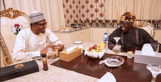 Ramadan: Tinubu Meets Buhari In Aso Rock, Breaks Fast (Photos)