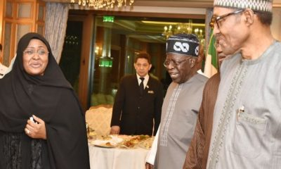 President Muhammadu Buhari has met with a national leader of the governing All Progressives Congress (APC), Bola Tinubu, in Makkah, Saudi Arabia.