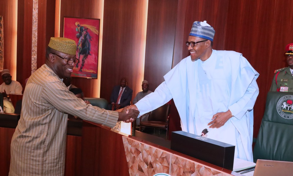 President Muhammadu Buhari has congratulated Governor Kayode Fayemi of Ekiti State on his emergence as the Chairman of the Nigeria Governors' Forum (NGF).
