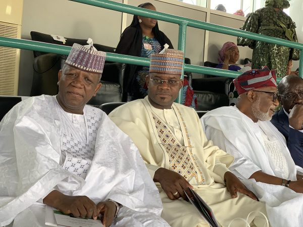 The National Chairman of the All Progressives Congress, Adams Oshiomhole, National Leader of the party, Bola Tinubu, former Head of State, Yakubu Gowon and other dignitaries have arrived Eagles Square, the venue of the inauguration ceremony.