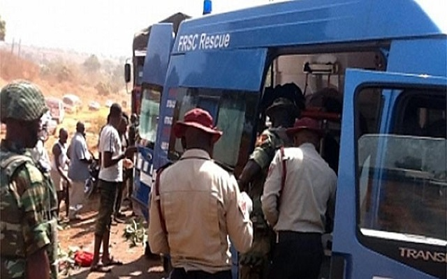 The Sector Commander, Federal Road Safety  (FRSC) Ogun, Mr Clement Oladele state has confirmed that about 43 people were involved, 12 persons which included five female and seven male were injured while eight persons which included one female, six male, and a child died in an auto crash along Lagos-Ibadan expressway.