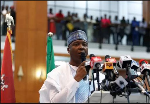 Just before President Muhammadu Buhari officially decreed the ruling of the 9th Assembly, Senate President Bukola Saraki gives his farewell well speech for the just concluded #8thSenateValedictory session at Senate house and it read thus;