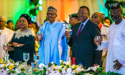 In the spirit of Democracy Day celebration, President Muhammadu Buhari hosted world leaders to a dinner party at the State House Conference Center Abuja.
