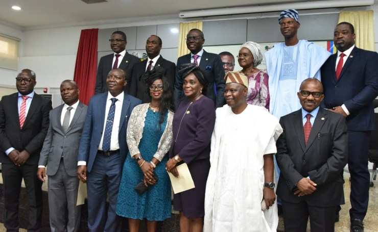 Governor Babajide Sanwo-Olu today 6th of June 2019 Swears-In key members of Lagos state government public affairs which includes the State Secretary General (SSG) Mrs Folashade Jaji, Chief Of Staff (COS) Mr. Tayo Ayinde, Deputy Chief Of Staff (DCOS) Mr. Gboyega Shogunle, Deputy Press Secretary, Mr. Gboyega Akosile and six permanent staffs.