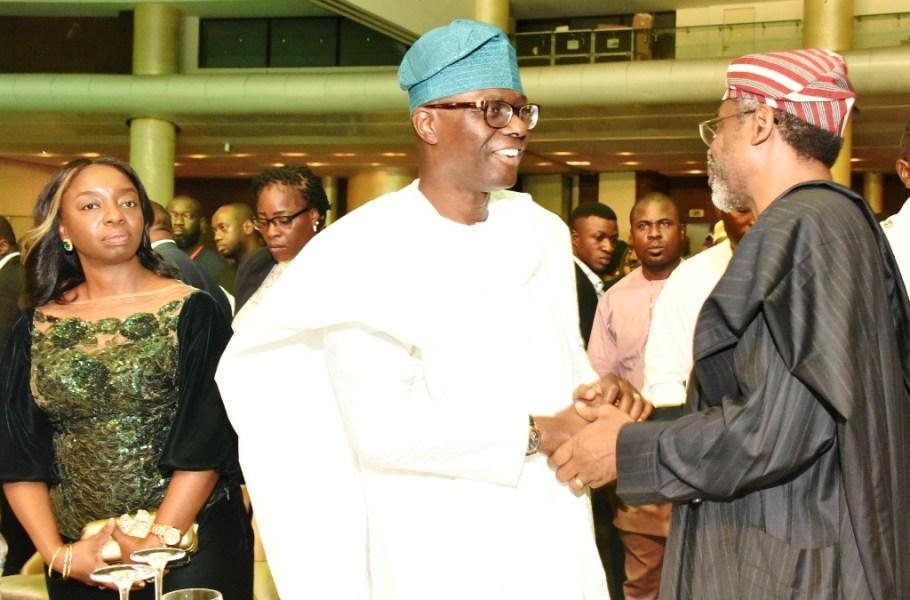 Lagos State Governor, Mr Babajide Sanwo-Olu, Wife Mrs Ibijoke Sanwo-Olu, Asiwaju Tinubu, others were cited at the reception In honour of Rt. Hon Gbajabiamila as the new speaker, House of Representatives.