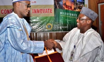 Photo News: Mele Kyari Officially Takes Over From Baru MD Of NNPC