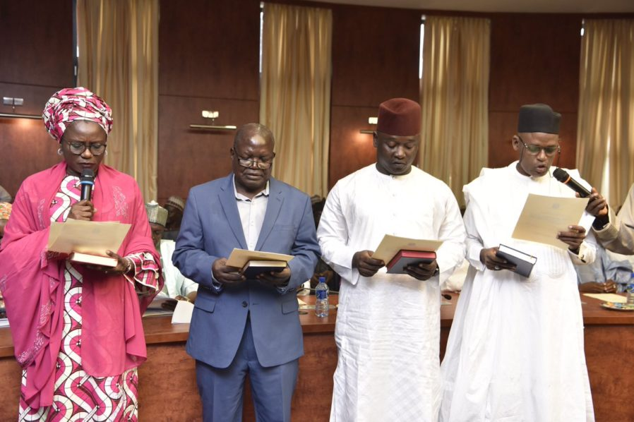 Kaduna State Governor, Nasir Ahmad El-Rufai on Friday sworn-in 13 new Commissioners to man the ministries in the state, during the cause of his second term in office.