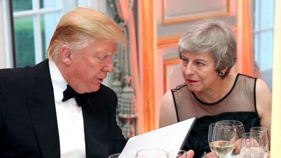 """President Trump on Tuesday said Prime Minister Theresa May was """"foolish"""" in her handling of Brexit, as hedoubled down on the feudwith Britain's ambassador to the U.S. Kim Darroch — whom he called """"wacky,"""" """"stupid"""" and a """"pompous fool."""""""