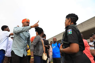 Armed police operatives and Department of State Security on Monday stopped members of 'Revolution Now' group, from taking their protest to the streets of Osogbo, Osun State Capital.