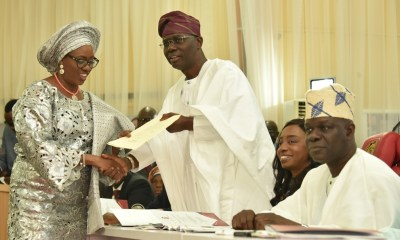 Sanwo-Olu Swears In 35 Cabinet Members, Warns Against Corruption