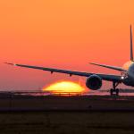 熊本空港 夕陽撮影