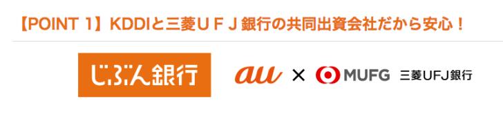じぶん銀行は三菱UFJ銀行とKDDIの共同出資