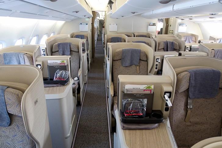 アシアナ航空A380ビジネスクラス