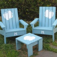 Kids Adirondack Chair And Table Set With Umbrella Black Distressed Leather Dining Chairs Ana White A Little Scrap
