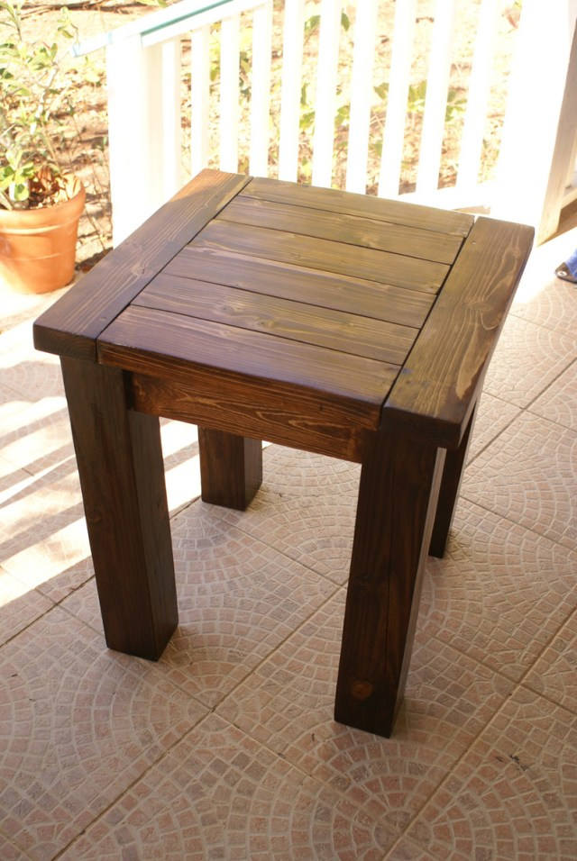 great and sturdy table. The wood is absolutely beautiful stained too